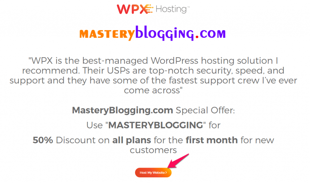 wpx masteryblogging co branded page