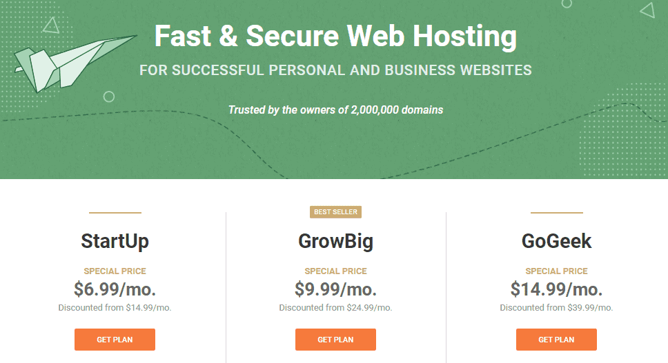 Shared Hosting from SiteGround